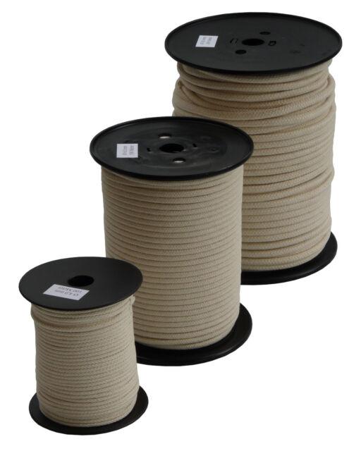 Baumwollseil Seil 4mm 50m Natur Beige Geflochten Schnur Gartenschnur Kordel