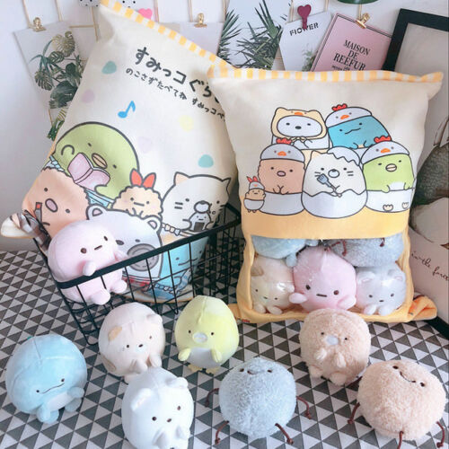 Plush Toy Cartoon Pillow One Bag Biological Cushion San-x Sumikko Gurashi Corner