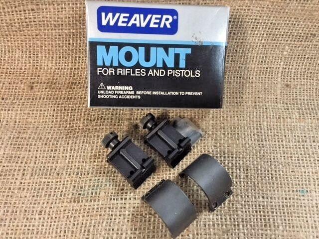 "New! Weaver Detachable Extension Top Mount Rings Ext 1"", High, Matte 49043"