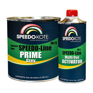 Automotive High Build 2K Urethane Primer Gray Gallon Kit, Fast Dry, SMR-210/211