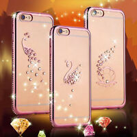 Luxury Crystal Plating Clear Soft TPU Cover For iphone 6 /6s/6 Plus/6S Plus Case