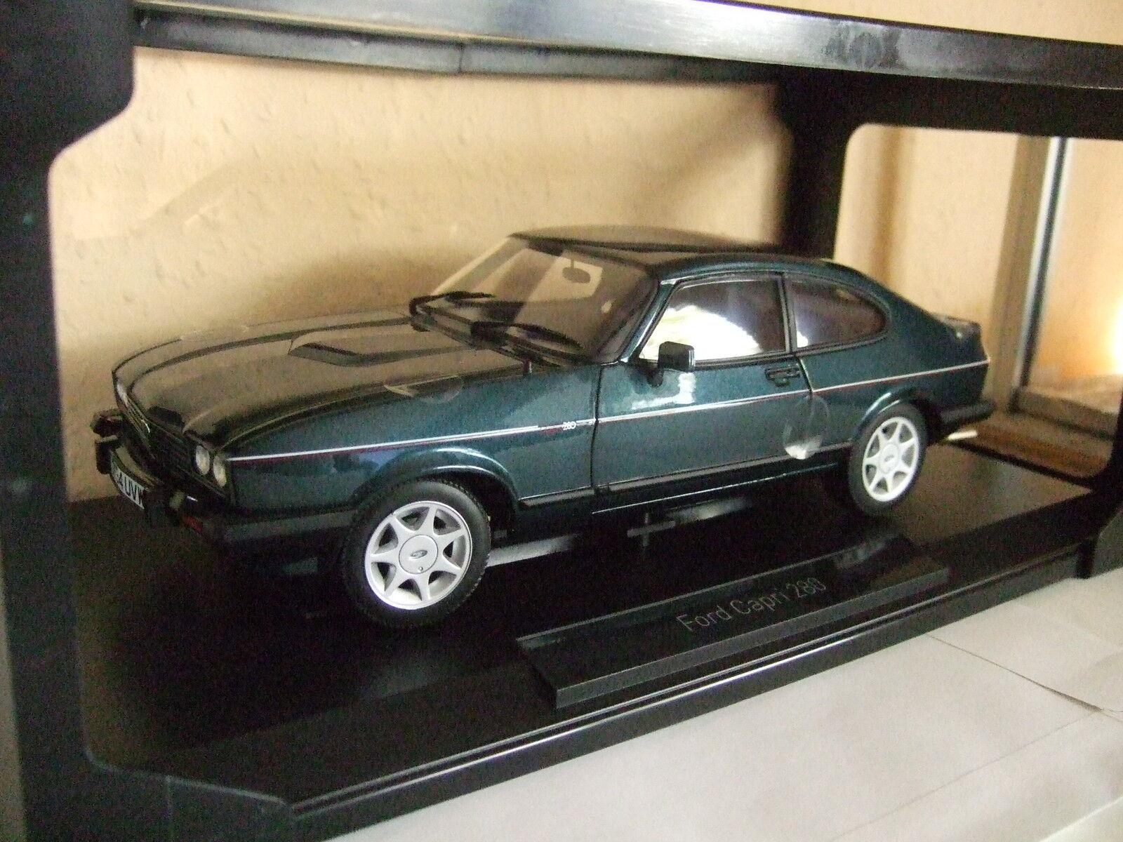 punto de venta Ford Capri Mk III 2.8i 2.8i 2.8i injection Brooklands 1986 verde met de norev 1 18 nuevo embalaje original  Precio al por mayor y calidad confiable.