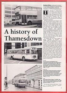 Buses Magazine Extract  Thamesdown Transport  Swindon History to date  1992 - Birmingham, United Kingdom - Buses Magazine Extract  Thamesdown Transport  Swindon History to date  1992 - Birmingham, United Kingdom