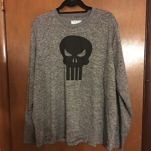 70a646e1b Men's Marvel The Punisher Graphic Shirt Long Sleeve Tee 2X (50-52 ...