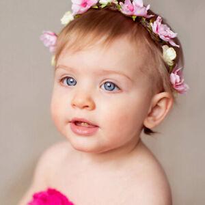 Baby-Hair-Wreath-Wedding-Party-Flower-Crown-Kids-Hair-Accessories-Chic