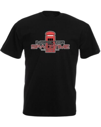 Inspector Spacetime Slogan Printed Mens T-Shirt Casual Slim Fit Crew Neck Tee