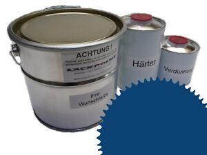 3 Liter Set 2K Floor Color Floor Ral 5019 Vinyl-Epoxid-Lack Lackpoint Shine