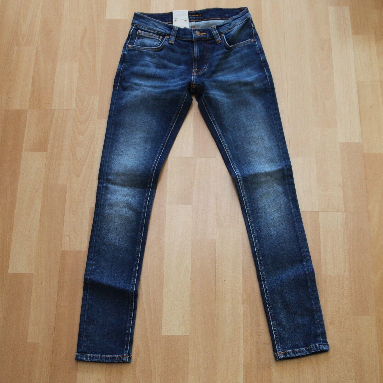 Nuevo Nudie Jeans tight Terry (tight antifit)  Organic sentimental azul 28 32  venta de ofertas