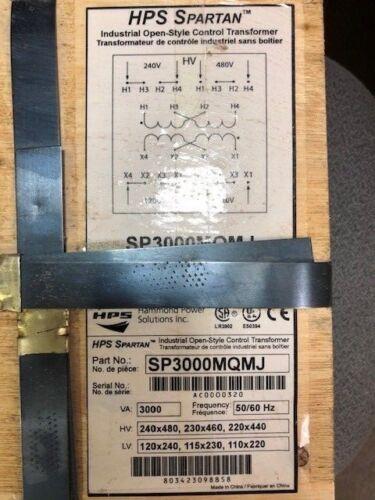 Transformer SP3000MQMJ 240//480-120//240V 50//60 Hz Hammond 3kVA