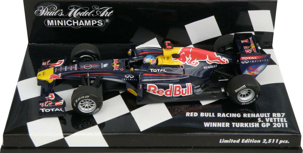 Minichamps Red Bull RB7 Winner Turkish GP 2011 - Sebastian Vettel 1 43 Scale