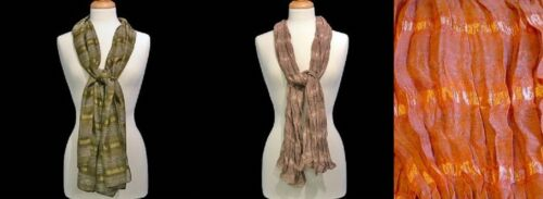 SCARF--Sheer Striped Scarf by RCS Gifts--Your Choice of Color