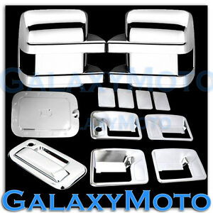 11-16-Ford-Super-Duty-Chrome-Mirror-4-Door-Handle-w-o-PSG-KH-Tailgate-GAS-Cover