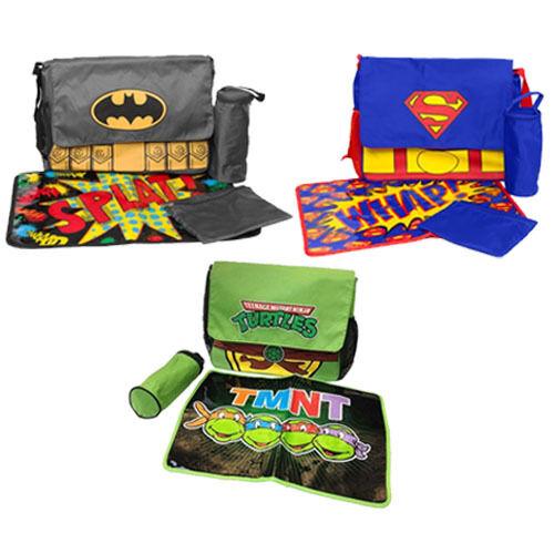 Superheroes Messenger Diaper Bag Set ( Batman,Superman,Ninja Turtles )
