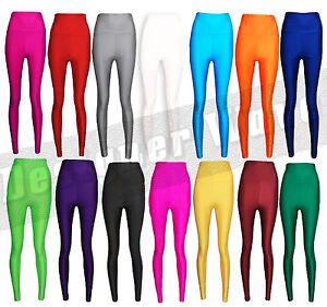 femmes legging disco taille haute montant années 80 Gym habillement ... 01e6f7b25e5