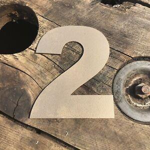 """2 5"""" Rustique En Métal Doré Numéro Lettre Maison Signe Lettrage Mot Boho Intérieur-afficher Le Titre D'origine Belle En Couleur"""