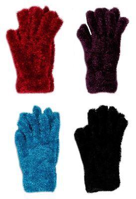 Gastfreundlich Damen Feder Handschuhe Super Weich Mädchen Winter Kleidung Dehnbar Warm