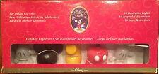 Disney Mickey Mouse Holiday Lights String Set Christmas NIB RARE