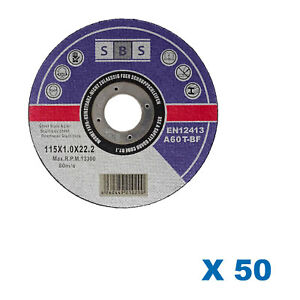 50-DISQUES-TRONCONNER-115-x-1-MM-MEULEUSE-TRONCONNEUSE-MARQUE-SBS