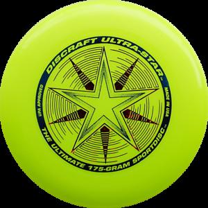 NG - Discraft Ultimate Frisbee Ultrastar 175g GELB Wettkampf/Freizeit Scheibe
