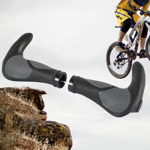 2-Ergon-Bar-End-Handlebar-Grips-Cycle-Bicycle-Mountain-Bike-Soft-MTB-Ergonomic
