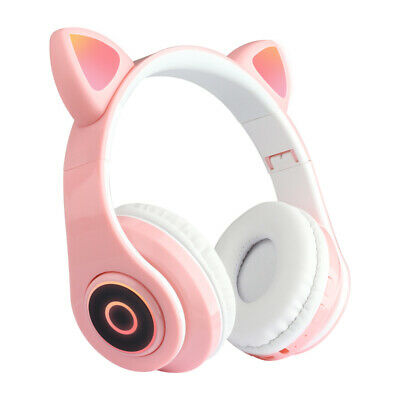 2020 New Wireless Cat Ear Headphones Bluetooth Headset Led Lights Earphone Ebay