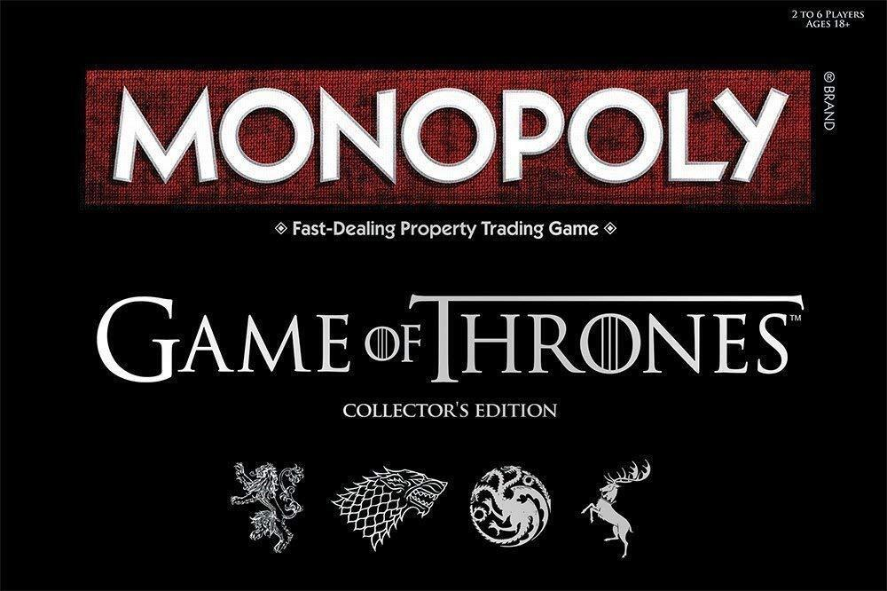 Monopoly Game of Thrones Board Game   Collectable Monopoly Game