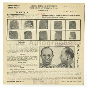 Walter-Evans-Connell-Murderer-Criminal-Original-FBI-Wanted-Circular-1948