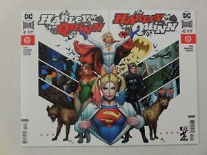 FRANK-CHO-Connecting-VARIANT-Cover-Set-HARLEY-QUINN-41-amp-42-1st-OLD-LADY