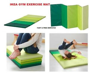 Ikea Plufsig Fitness Yoga Exercise Folding Gym Mat Green New Fast