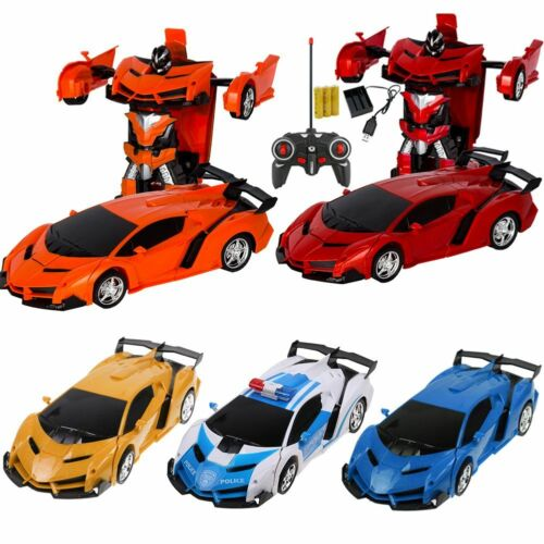 2in1 Transforming RC Car Transforming Driving Sports Cars Transformation Robots