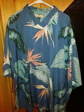 Tommy Bahama Shirt XXL Hawaiian RELAX 100% Silk FLORAL DESIGN VIBRANT COLORS