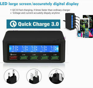 QC3-0-USB-Smart-Quick-Charge-Lcd-Digital-5Port-Charger-Power-Adapter-Station-amp-LED