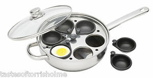 KITCHEN-CRAFT-Induction-6-Non-Stick-Coupe-Oeuf-Poche-Large-28-cm-Braconnier-Pan