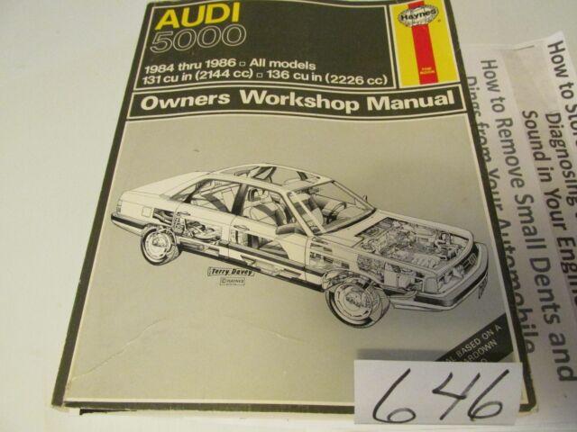 Haynes Service Repair Manual 1117 Audi 5000 1984