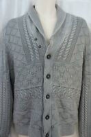 Inc International Concepts Sweater Sz L Grey Acid Cotton Cardigan Casual Sweater