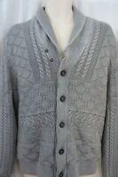 Inc International Concepts Sweater Sz L Grey Acid Cotton Cardigan Casual Sweater
