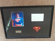 CHRISTOPHER REEVES GENUINE HAND SIGNED MOUNTED FRAMED DISPLAY SUPERMAN VERY RARE