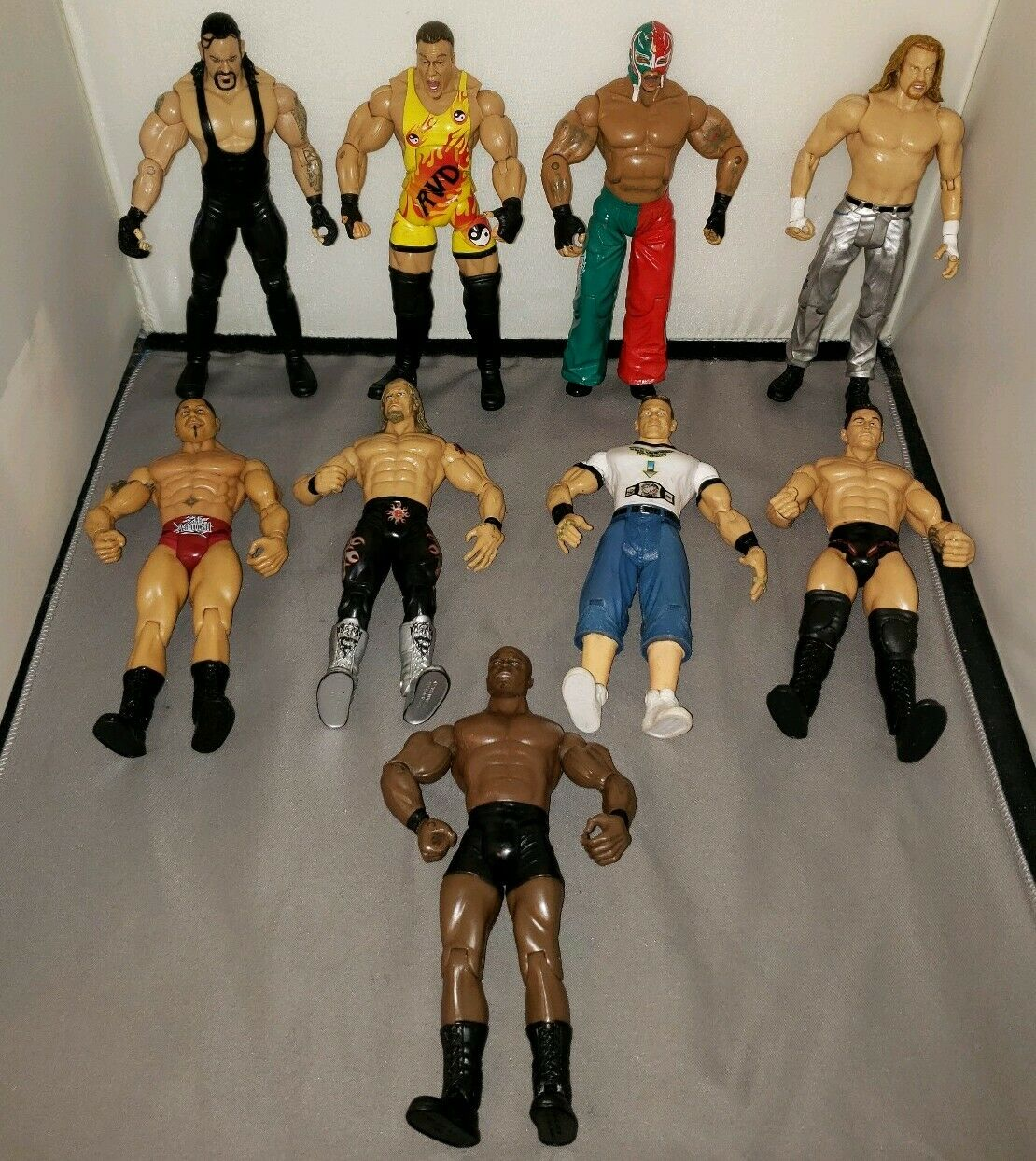Jakks Pacific WWE Lucha Libre Figuras Lote De 9 de 2001-2005