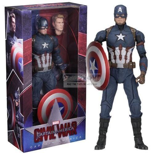 1 4 Scale Civil War Captain America Action Figure NECA Toy