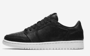 NEW Womens Nike Air Jordan 1 Retro Premium Low Black White AH7232 ... 4e2cd128b6