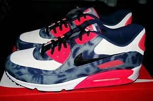 release date 2b031 4ab65 ... usa image is loading nike air max 90 infrared bleached denim x 75db2  0b653