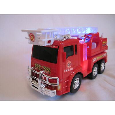 Batterie Feuerwehrauto mit Sound u. LED Selbstfahrend Spielzeug Feuerwehr Auto
