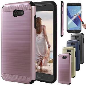 Samsung-Galaxy-J7-Prime-Sky-Pro-V-Perx-Hybrid-Case-Cover-Glass-Screen-Protector