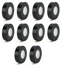 10x Rolls Super Tape Electrical Vinyl Tape Black 7 Mil 34 X 60 Ul Listed
