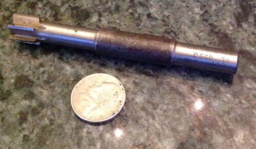 Machine shop stub HSS reamer 0.499 x 3.69 x 3//8 shank 6 flute 1//2 long hole bore