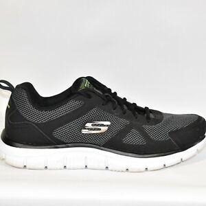 Skechers-Mens-11-5-Track-Bucolo-Black-Lightweight-Training-Shoes-SN52630-EUC