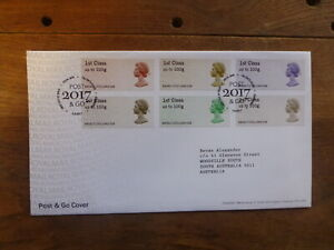 GREAT-BRITAIN-2017-POSTAL-MUSEUM-POST-N-GO-SET-6-STAMPS-FDC-EDINBURGH