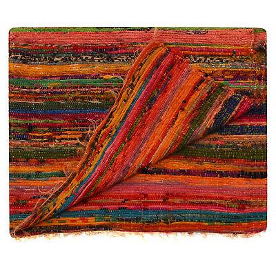 Jute /& Baumwolle rechteckige geflochtene Teppiche Reversible Floor Carpet 2x3/'