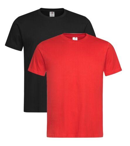 Stedman Prime Plain Cotton Heavyweight Short Sleeve Tee T-Shirt Tshirt