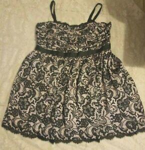 Adrianna-Papell-Black-Lace-Print-Sleeveless-Dress-24W